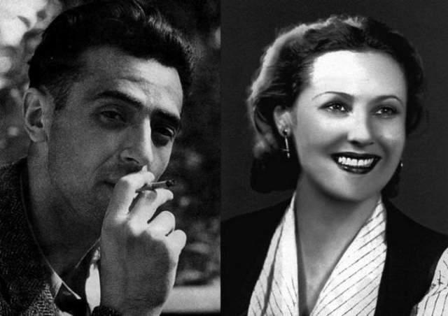 """Роль в """"Кавказской пленнице"""" - всего лишь пятая в карьере актера, зато женат он к тому времени уже в третий раз (на фото - его бывшая жена Нинель) и воспитывал 10-летнюю дочь Раису."""