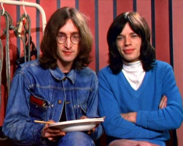 Джон Леннон и Мик Джаггер.