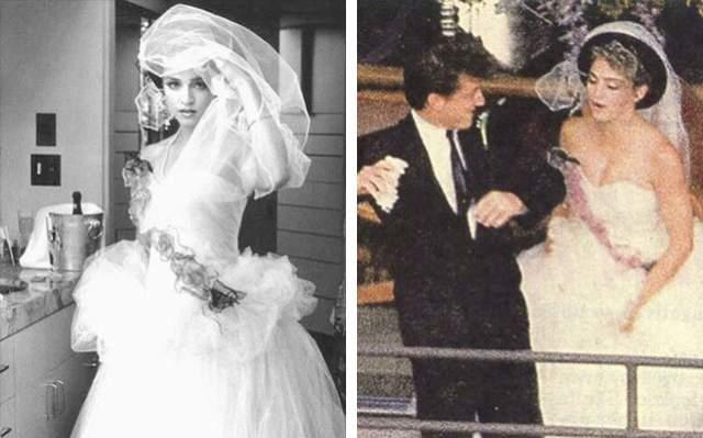 Пышная свадьба прошла в Малибу. И если бы не папарацци, то праздник можно было бы назвать идеальным. Как позднее рассказывал актер Мартин Шин, происходящее напоминало войну во Вьетнаме - из-за шума кружащихся вертолетов было невозможно расслышать ни слова. Но Пенн все равно хотел церемонию на открытом воздухе.