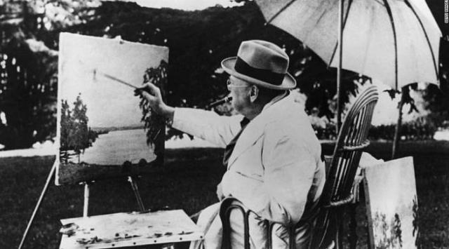 Мастерская Уинстона Черчилля. В дополнение к первоклассным управленческим качествам, Черчилль также был довольно талантливым художником.