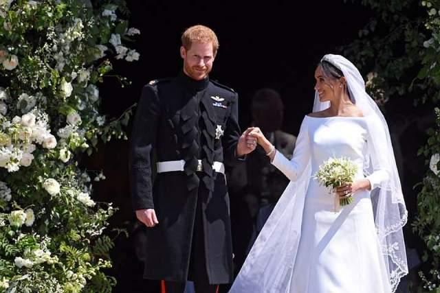 Принц Гарри и Меган Маркл, май 2018. Церемония бракосочетания принца Гарри и Меган Маркл проходила в часовне Святого Георгия в Виндзорском замке.
