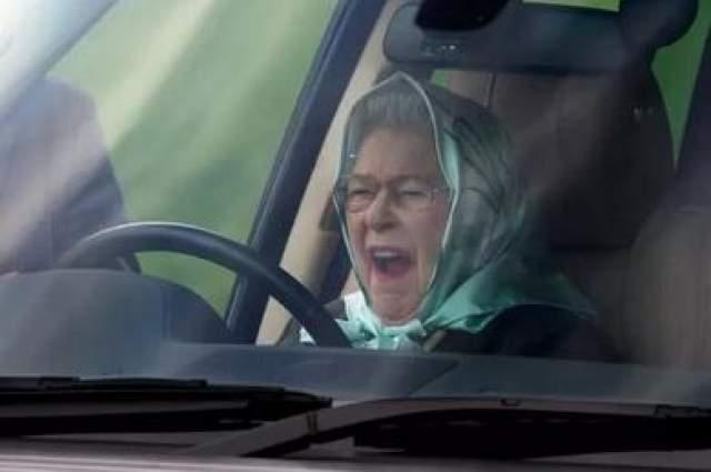 Еще один из удачных кадром Королевы Великобритании Елизаветы ll.