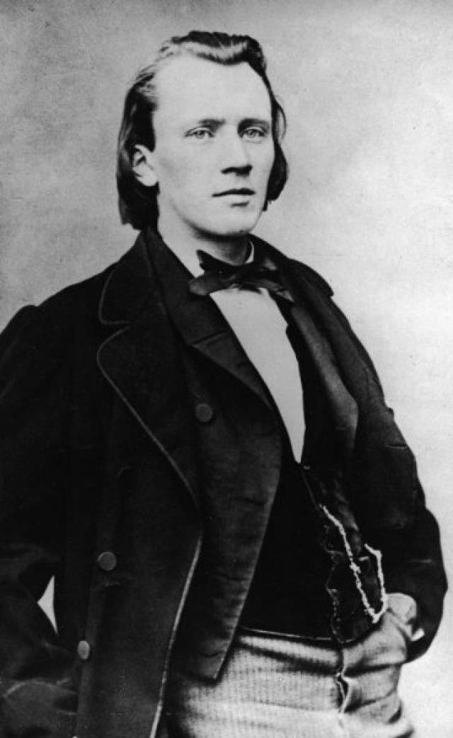 Йоханнес Брамс. А вот странность немецкого композитора была вполне невинна: испытывая потребность во вдохновении, он всегда начинал чистить обувь.