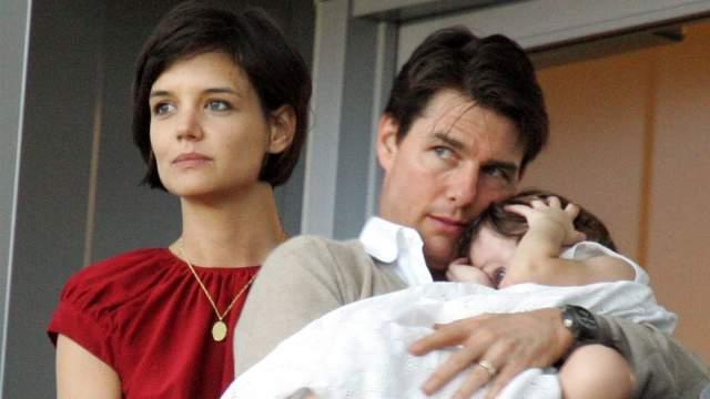 Том Круз с Кэти Холмс и дочкой Сури.