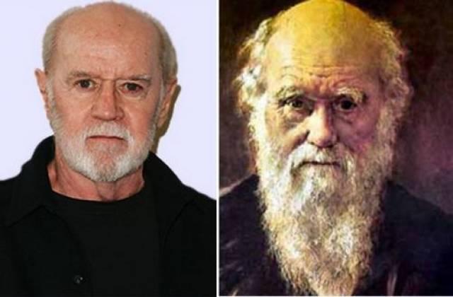Американский комик Джордж Карлин и Чарльз Дарвин.
