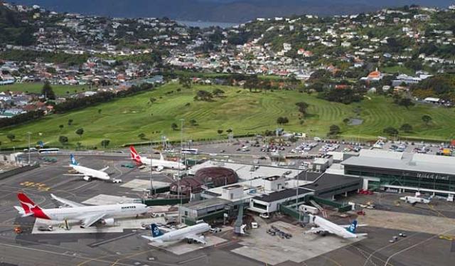 Аэропорт в Веллингтоне (Новая Зеландия)
