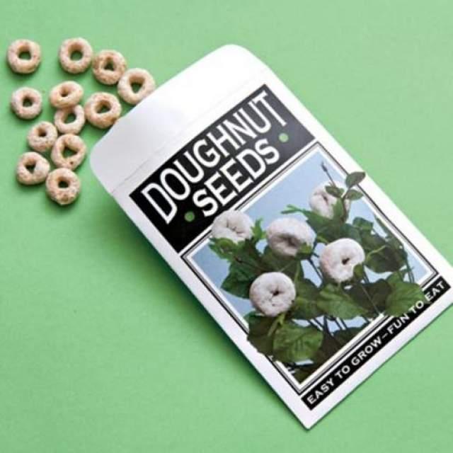 """Посадите с детьми семена пончиков Перед школой предложите детям посадить на участке """"семена"""" пончиков (колечки готового завтрака). А перед возвращением детей со школы, не забудьте положить вместо """"семян"""" настоящие пончики."""