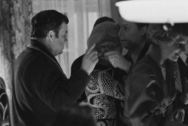 В нем же были в числе претендентов на роли Олег Басилашвили (должен был играть Ипполита, но накануне съемок у него умер отец).