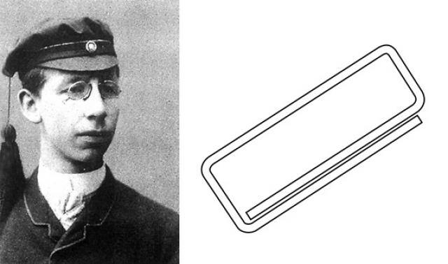 """Скрепка. Впервые соединять бумагу закрученным куском проволоки придумал норвежский изобретатель Йохан Ваалер в 1899 году, но она не была похожа на нынешнюю скрепку. А скрепку в том виде, в котором она сейчас и существует, придумали в английской компании """"Gem Manufacturing Ltd"""", но почему-то это изобретение так никто никогда не запатентовал."""
