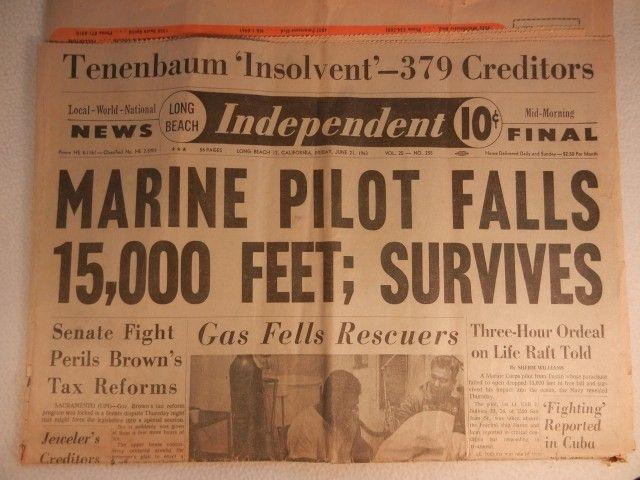 Ему это удалось: молодой человек вздохнул с облегчением и потянул за кольцо парашюта, но и тот не сработал. Он предпринял еще несколько отчаянных попыток раскрыть парашют, прежде чем врезался в поверхность океана.