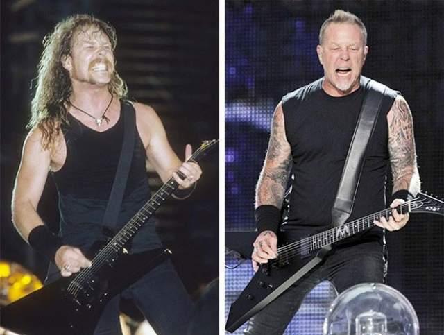 Джеймс Хетфилд (Metallica). Обладатель звания одного из величайших гитаристов всех времен по версии журнала Rolling Stone (87 место) в 2003 году вышел из реабилитационной клиники, где избавлялся от алкогольной зависимости.