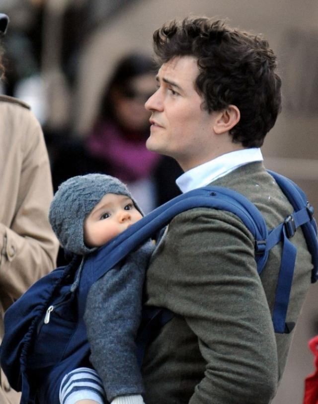 Орландо Блум и Флинн Кристофер Блум. Известный актер присутствовал при родах, мальчик стал первенцем для обоих родителей.