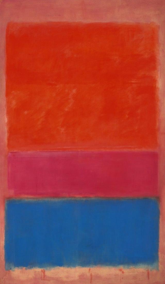 """$75 100 000. """"Королевский красный и синий"""" , Марк Ротко, 1951 год."""