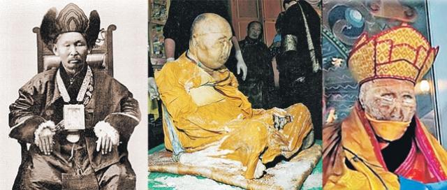Хамбо-лама Даши-Доржо Итигэлов умер в 1927 году, а в 2002-м состоялось эксгумация его тела. Оно было извлечено из земли, где содержалось в кедровом ящике, засыпанное солью. Очевидцы утверждают, что у Итигэлова была мягкая кожа без каких-либо признаков гниения, сохранились нос, уши, глаза.
