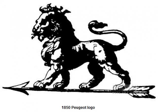 Peugeot. Концерн основали аж в 1812 году, но первый автомобиль сошел с конвейера в 1889 году. Логотип для Peugeot был разработан ювелиром и гравером Джастином Блазером на основе геральдического знака с флага провинции, где первоначально располагался завод.