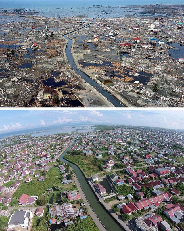 На полное восстановление многим населенным пунктам понадобилось до десяти лет. На фото район Банда-Ачех в провинции Ачех, расположенной на острове Суматра в Индонезии.