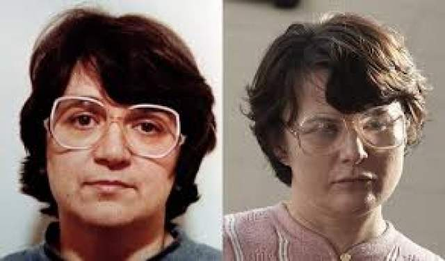 Розмари Уэст. Родилась в 1953 году в Великобритании. Издевалась над молодыми женщинами и убивала их. На ее счету 12 жертв, но два убийства не доказаны. В настоящее время сидит в тюрьме Лоу-Ньютон.