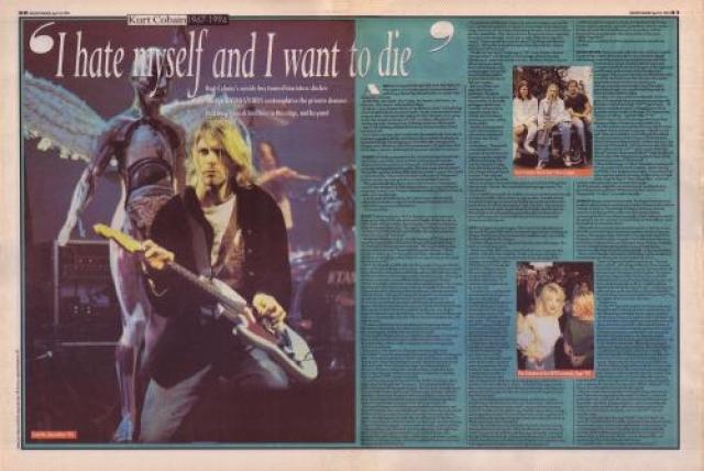 """Одна из многочисленных статей о музыканте с заголовком: """"Я ненавижу себя и хочу умереть!"""""""