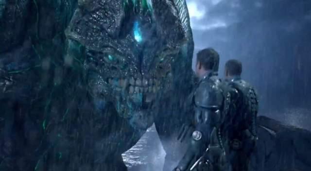 """Кайдзю (""""Тихоокеанский рубеж"""") В случае """"Тихоокеанского рубежа"""", Кайдзю - это твари из параллельного измерения, эдакие боевые животные, выращенные инопланетной расой с целью нападения на земные города."""