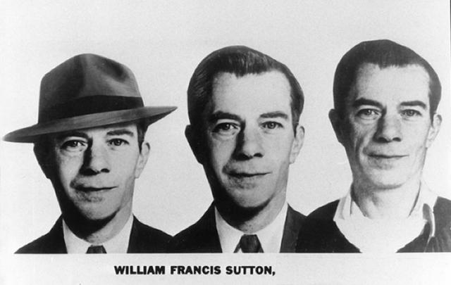 Вилли Саттон. Будущий преступник появился на свет в 1901 году. Мужчина с обаятельной улыбкой в течение 35-ти лет ограбил более 100 банков, а его добыча за все время составила более 2-х миллионов долларов.