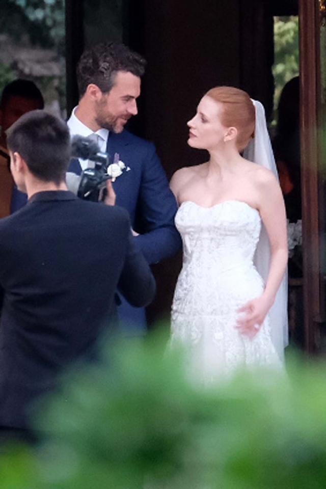 Джессика Честейн и Жан-Лука Пасси де Препосуло. Актриса и ее возлюбленный сыграли роскошную свадьбу в Италии.