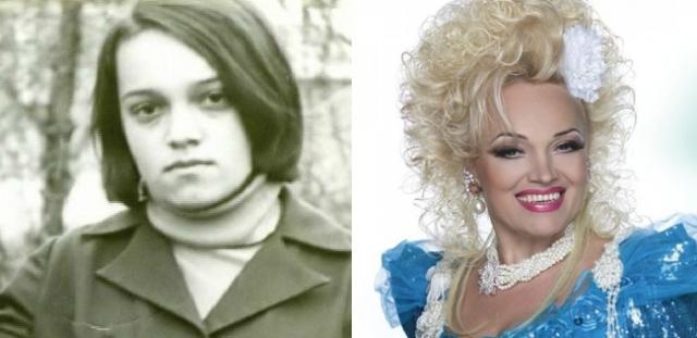 Надежда Кадышева. Исполнительница народных песен выглядела вот так до того, как стать звездной блондинкой и жертвой странной моды.