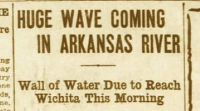 Как сообщила газета, по реке Арканзас на юг движется огромная волна высотой 11 футов (более 3 метров). Навстречу ей, на север, мигрируют миллионы лягушек.