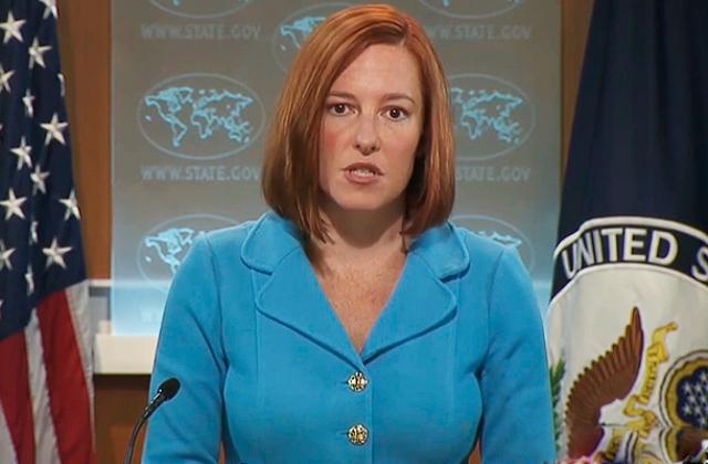 """Государственный медиахолдинг """"Голос России"""" опубликовал на своем англоязычном сайте статью """"Джен Псаки - символ администрации Обамы и ее слабой внешней политики""""."""