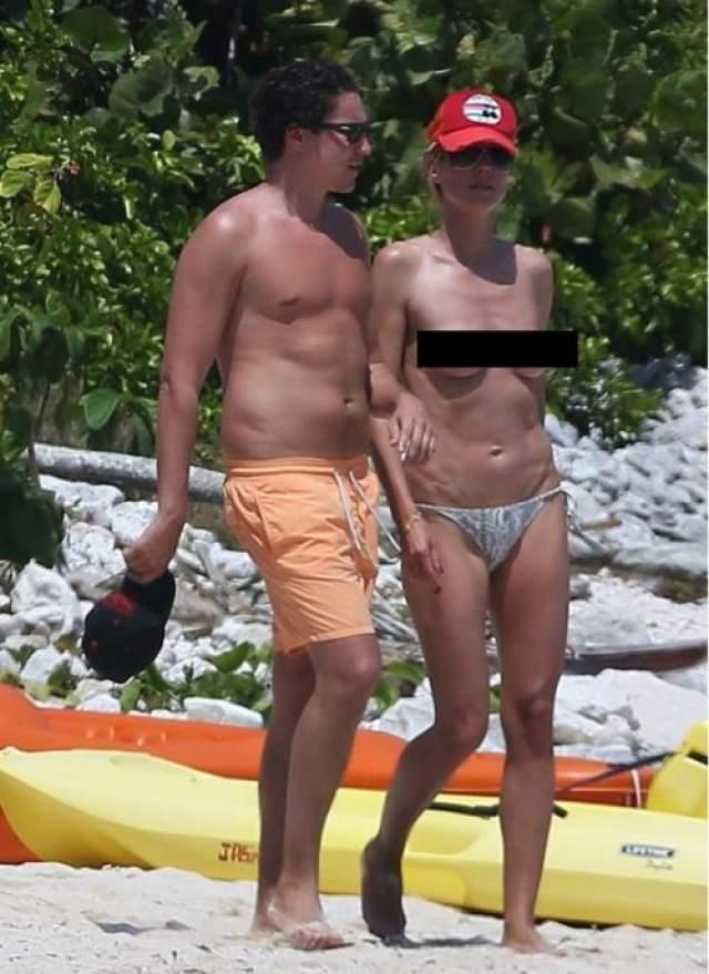 Хайди Клум Конечно, Хайди Клум прекрасно знает, как привлечь внимание своего бывшего бой-френда. Нет ничего более действенного, чем ходить по пляжу полуголой в обществе молодого спутника.