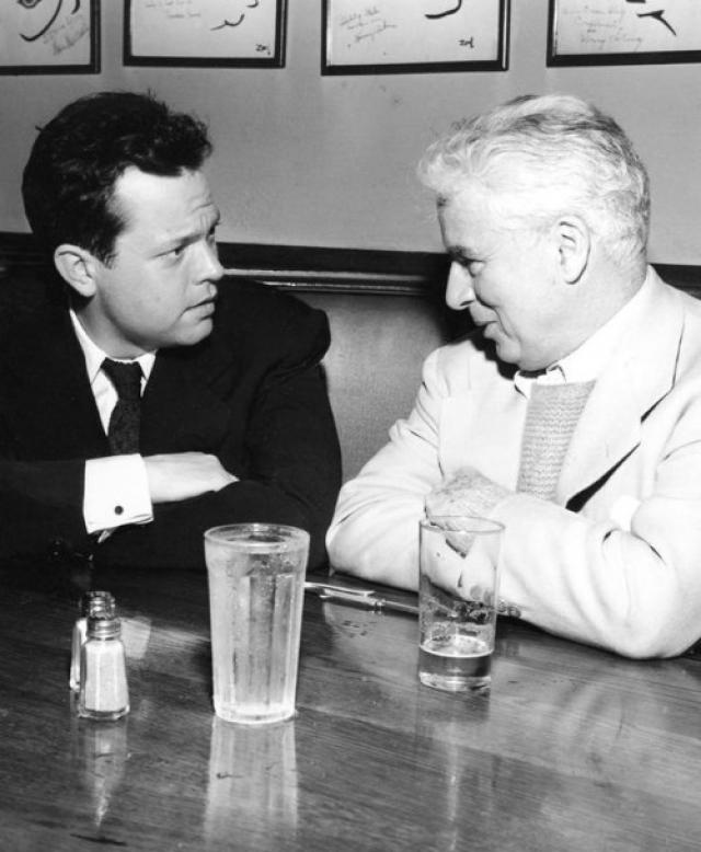Орсон Уэллс и Чарли Чаплин.