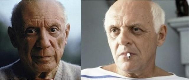 """Пабло Пикассо и Энтони Хопкинс , """"Прожить жизнь с Пикассо""""."""