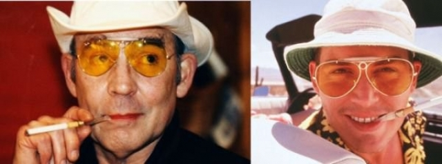 """Хантер Томпсон и Джонни Депп , """"Страх и ненависть в Лас-Вегасе""""."""