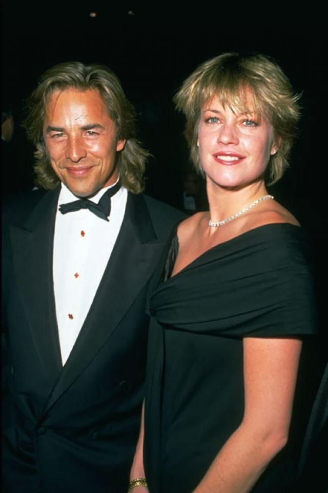 """26 августа 1989 года они поженились во второй раз. Церемония прошла в Колорадо, и в октябре того же года Мелани родила дочь Дакоту. Актер тогда говорил: """"Мы переживаем вторую молодость"""" , а Мелани добавляла: """"Дон изменился. Он удивительный муж и хороший отец. Наш любимый напиток – чай. Мне стыдно, когда я смотрю старые фотографии"""" ."""
