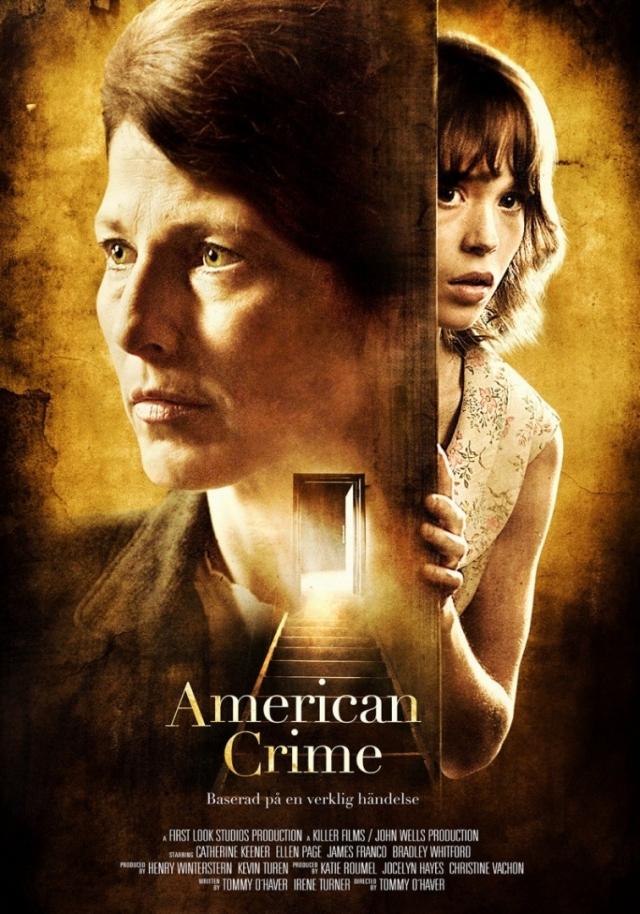 """"""" Американское преступление """" (2007). Фильм основан на реальных событиях конца 60-х: Гертруда Банижевски, держала в заточении в подвале своего дома, всячески истязала, а позже и убила девушку-тинейджера, так как оплата за ее содержание не поступила вовремя."""