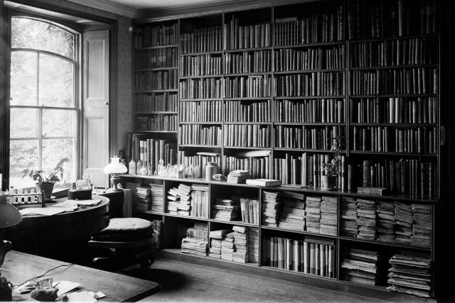 Личный музей эволюции Чарльза Дарвина. Имение Даун Хаус, Кент, Англия стало местом, где ученый жил и работал более 40 лет. Внутри дома, главным местом сосредоточения для ученого стал его кабинет, который за долгие годы Дарвин превратил в музей естественной истории.