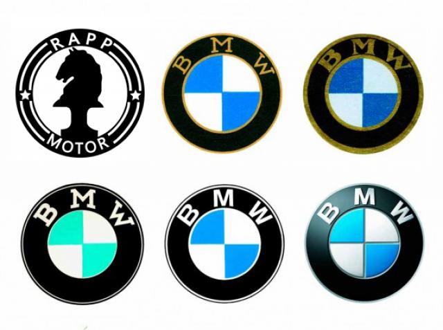 Бело-голубой логотип представляет цвета баварского флага. Также считается, что в символе есть пропеллер, как отсылка к изначальному назначению компании.