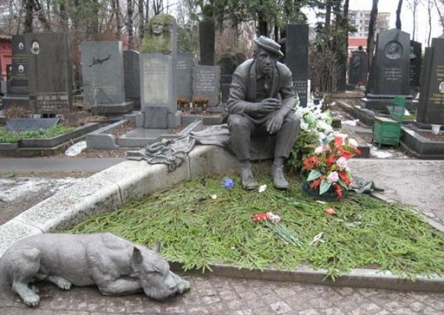 Похоронен с воинскими почестями на Новодевичьем кладбище (участок № 5).