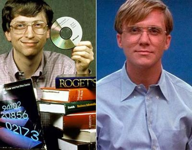 """Билл Гейтс и Энтони Майкл Холл , """"Пираты Силиконовой долины""""."""