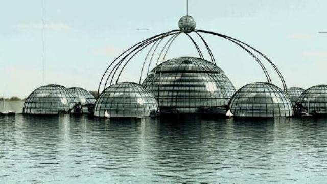 Как отмечал сам Фуллер, наша планета на 70% покрыта океаном, а значит, плавучие города должны быть для нее вполне естественны.