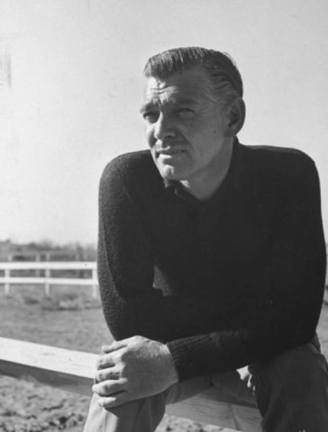 """Кларк Гейбл. 1901-1960. Имел прозвище """"Король Голливуда"""". Назван одним из величайших звезд кино по версии американского института киноискусства."""