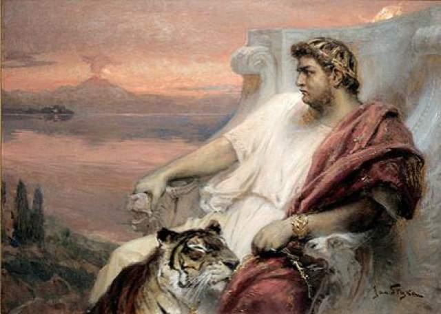 """Дорого обходились римлянам и его артистические претензии. Древнеримский историк Гай Светоний так писал на нем: """"Сам Нерон, ... страдал """"манией художественного величия"""". Когда он пел, никому не дозволялось выходить из театра, даже по необходимости. Поэтому, говорят, некоторые женщины рожали в театре, а многие зрители, не в силах более его слушать и хвалить, перебрались через стены, так как ворота были закрыты, или притворялись мертвыми, чтобы их выносили на носилках..."""""""