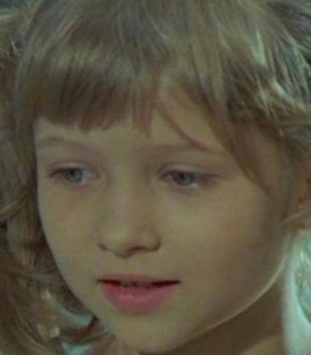 """Гильда Монолеску, Мария в """"Мария, Мирабела"""". Девочка дебютировала в кино в шестилетнем возрасте."""