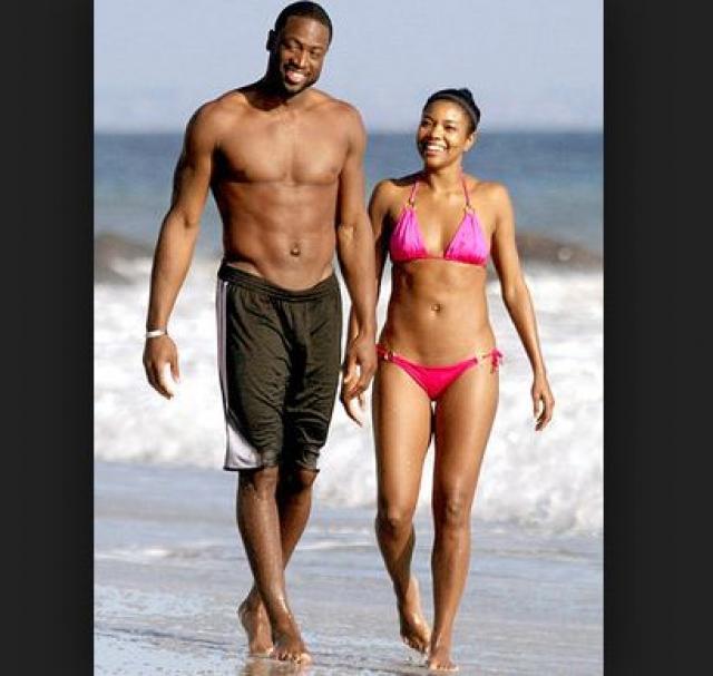 Габриэль Юнион. Девушка познакомилась с звездой баскетбола Дуэйном Уэйдом на кубке Супер Боул в 2007 году, тогда спортсмен был женат и имел двоих детей.