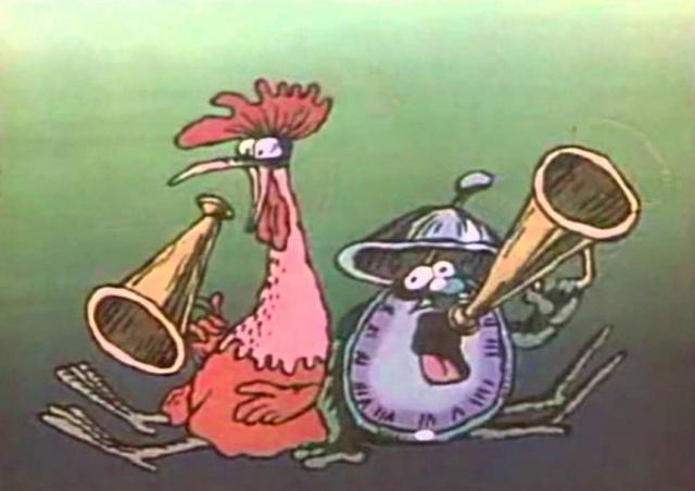"""Одну из заставок для """"Будильника"""" сделал в 1984 году известный мультипликатор Александр Татарский. Позже он вспоминал, что рот Будильника в одной из сцен напоминал начальству латинскую букву """"S"""". Этот кусочек вырезали. По мнению цензоров, """"S"""" ассоциировалось с долларом."""