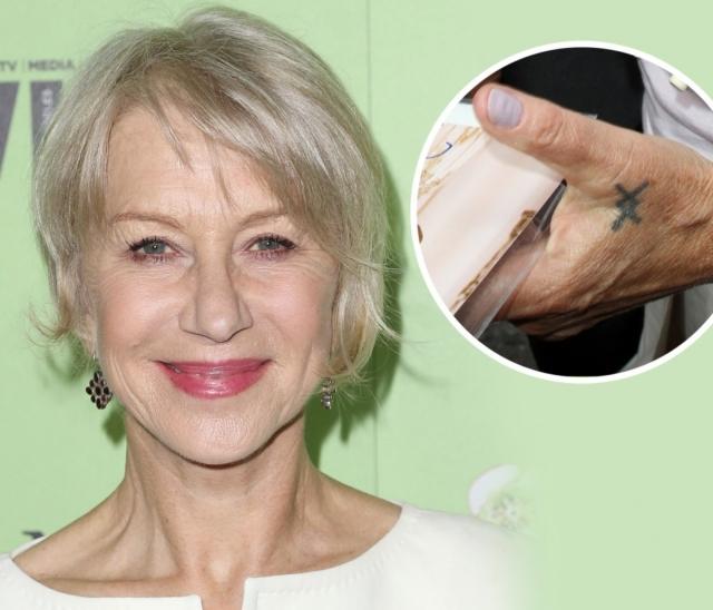 """Хелен Миррен. """"Терпеть не могу свою татуировку, потому что это стало ужасным мейнстримом"""", - говорит актриса."""