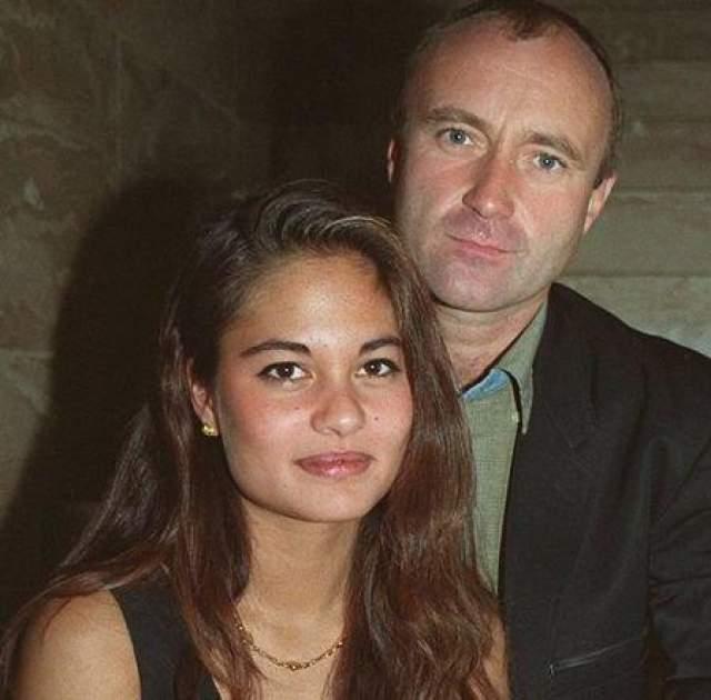 В браке у музыканта и модели родились двое детей: Николас и Мэтью. На фото: Фил Коллинз и Органа Цивей в 1994 году