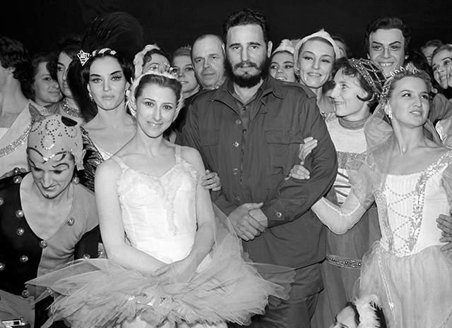 1963 год, Фидель Кастро и Майя Плисецкая в Большом театре.