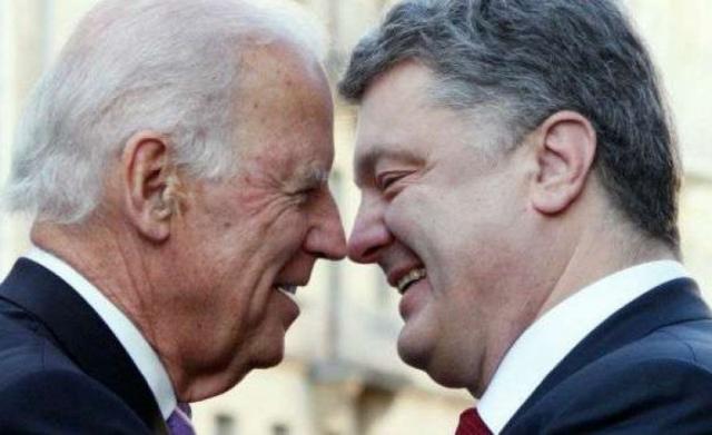 Вице-президент США даже подлил масла в огонь, заявив, что видится с Порошенко чаще, чем с женой.