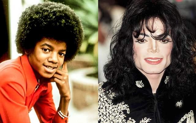 Майкл Джексон, 1958-2009. Разумеется, нельзя не рассказать, как менялся всемирно известный певец.