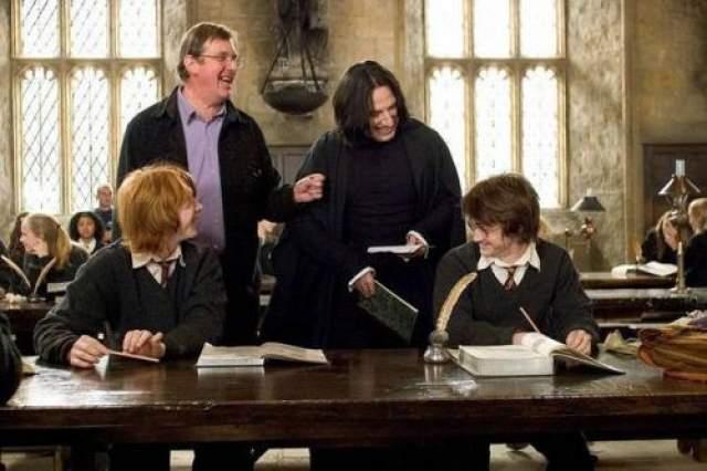 Гарри Поттер и кубок огня Руперт Грн, Дэниел Редклифф, Алан Рикман и Майкл Ньюэлл. Как видите, Гарри и Снейп могли дружить.